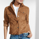 Express Faux Suede Jacket, brown suede jacket, brown leather jacket, brown faux suede jacket, brown suede moto jackt