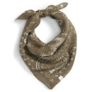 Treasure&Bond 'Feathered Bandana' Scarf, olive bandana, green bandana, military green bandana
