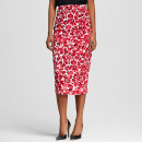 Who What Wear x Target Pencil Skirt, red floral pencil skirt, pink floral pencil skirt, orange floral pencil skirt