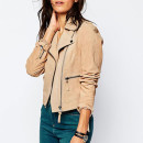 ASOS Suede Biker Jacket, tan suede jacket, nude suede jacket, beige suede jacket, light brown suede jacket