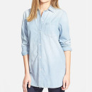 Madewell 'Buckley Wash' Chambray Shirt, chambray shirt, light chambray shirt, light chambray button down