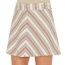 See by Chloé V-Striped Mini Skirt, red stripe mini skirt, stripe mini skirt, stripe a-line mini skirt
