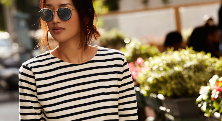 See How This Blogger Does Chic-Nautical: Fashion blogger 'Gary Pepper Girl' wearing a stripe boatneck tee, white crop pants, white pointy toe flats and a round sunglasses. Spring outfit, spring look, summer outfit, spring work outfit, summer work outfit, casual outfit, comfy outfit, travel outfit, summer vacation outfit, spring vacation outfit, street style, street chic style.