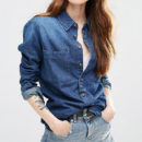 ASOS Denim Shirt - denim shirt, medium wash denim shirt, dark wash denim shirt, chambray shirt, medium wash chambray shirt, dark wash chambray shirt