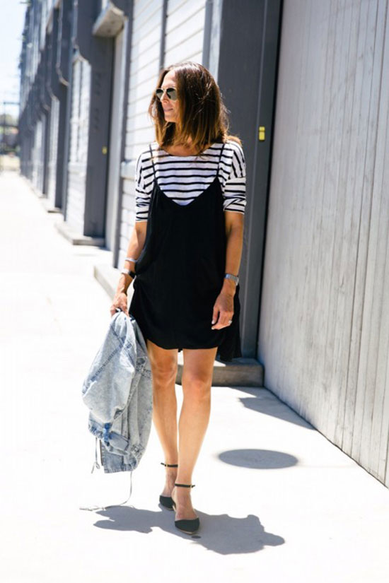 How To Wear The Slip Dress Over T Shirt Trend Be Daze Live