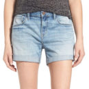 Treasure&Bond Cuffed Denim Boyfriend Shorts - denim boy shorts, rolled hem denim shorts, cuffed denim shorts, cuffed shorts, denim bermudas