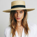Spencer Wide Brim Boater - straw boater hat, wide brim boater hat, straw flat hat, straw wide flat hat, straw wide hat, straw floppy hat, straw wide boater hat