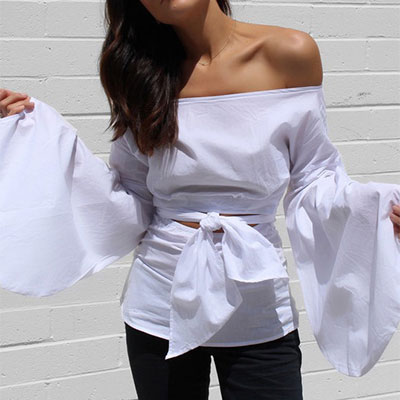 bb9adef42fb Shein Puff Sleeve Off The Shoulder Blouse - white off the shoulder top