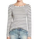 Amour Vert 'Francoise' Top - black long sleeve stripe top, striped long sleeve top, stripe long sleeve top, stripe long sleeve t-shirt, striped long sleeve t-shirt