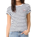 Zoe Karssen Striped Tee - blue stripe t-shirt, navy stripe t-shirt