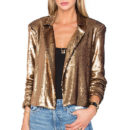 House of Harlowe Gigi Sequin Bolero - gold sequin blazer, gold sequin jacket, golden sequin blazer, golden sequin jacket