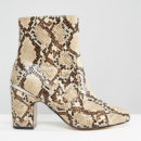 ASOS Ramero Ankle Boots - snake print ankle boots, snake print booties, snake print block heel ankle boots, snake print block heel booties