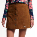 Superdry 70's Suede Skirt - brown suede mini skirt, brown suede a-line skirt, brown button front mini skirt, brown suede button mini skirt, brown suede a-line mini skirt