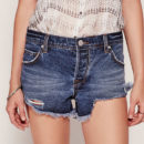 Free People Denim Cutoff - distressed denim shorts, raw hem denim shorts