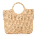 Hat Attack Round Handle Bag - straw tote bag, straw tote, beach tote, round handle tote