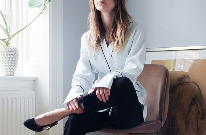The Pajama Top That's Killing It At The Office: Fashion blogger 'The Style Cavalry' wearing a white pajama top, black crop pants and black slingback heels. Pajama top outfits, pajama top trend, office look, office looks, office outfits, work outfits, outfits for work, black and white outfits, minimal outfits, fashion trends 2017.