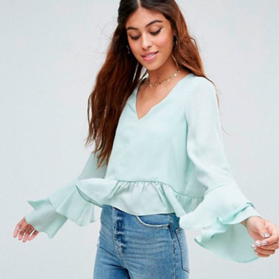 Ruffle Sleeve Blouse by ASOS