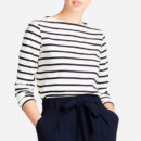 Uniqlo STRIPED LONG-SLEEVE T-SHIRT - stripe long sleeve t-shirt