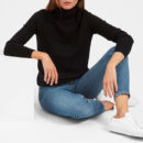 Everlane Cashmere Turtleneck - black turtleneck sweater, black cashmere turtleneck sweater