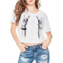 Guess ROCK CROPPED TEE - graphic tee