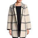 Calvin Klein Open Front Coat - windowpane coat
