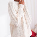 AERIE CABLE SWEATER - white cable knit sweater