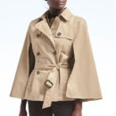 Banana Republic Water-Resistant Trench Cape - beige cape, beige trench cape, beige trench coat