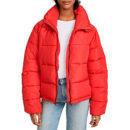 Glamorous Cropped Puffer Coat - red puffer jacket, red puffer coat, red down jacket, red down coat