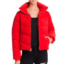 Juicy Couture Velour Puffer Jacket - red puffer jacket, red down jacket, red jacket