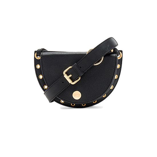 See by Chloe Kriss Belt Bag - black belt bag, chloe belt bag, black fanny pack, black leather fanny pack