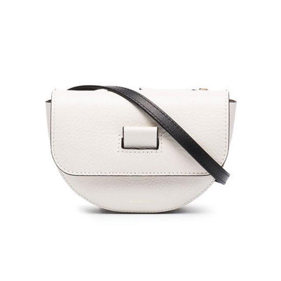 Wandler Mini Anna Belt Bag - white belt bag, white fanny pack, white leather belt bag, white leather fanny pack