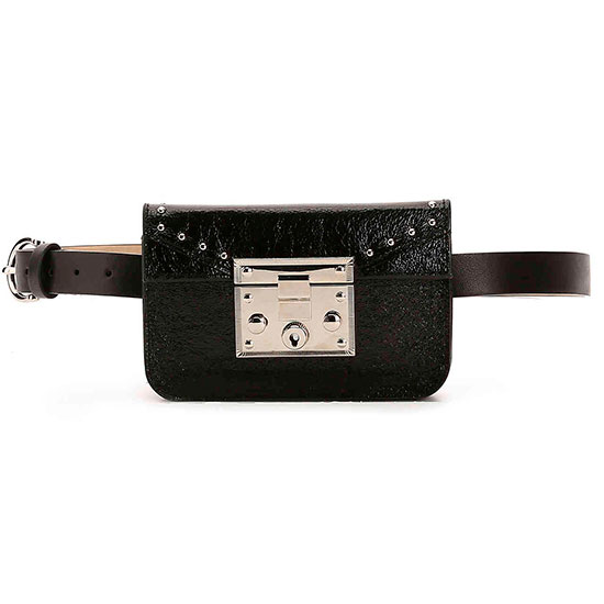 Steve Madden Belt Bag - black belt bag, leather belt bag, black fanny pack, black leather fanny pack