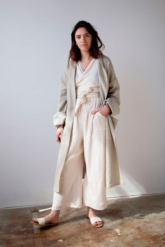 67bcbb31d7 Your Guide To Wearing Neutral Colors This Spring  Model wearing a beige  long cardigan
