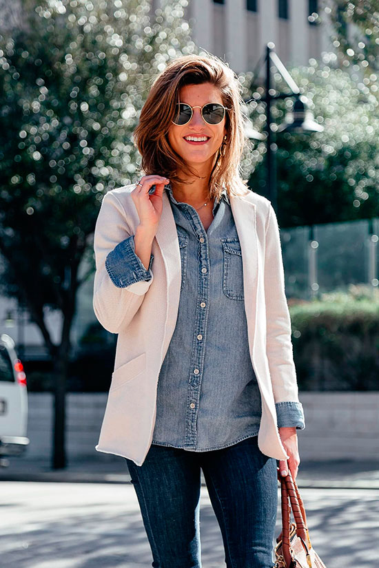 ae189fc4304d 10 Casual Looks To Try This Blazer Season  Fashion blogger  Brighton The  Day  ...
